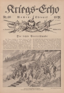 Kriegs-Echo: Wochen=Chronic, 26. November 1915, Nr 68.