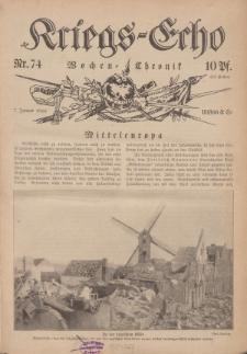 Kriegs-Echo: Wochen=Chronic, 7. Januar 1916, Nr 74.