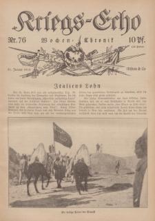 Kriegs-Echo: Wochen=Chronic, 21. Januar 1916, Nr 76.