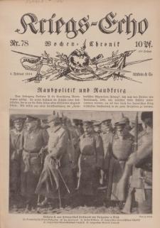Kriegs-Echo: Wochen=Chronic, 4. Februar 1916, Nr 78.
