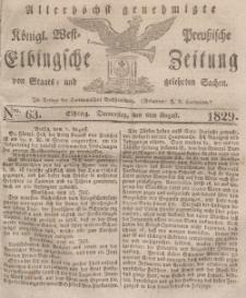 Elbingsche Zeitung, No. 63 Donnerstag, 6 August 1829