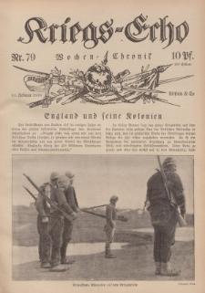 Kriegs-Echo: Wochen=Chronic, 11. Februar 1916, Nr 79.