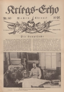 Kriegs-Echo: Wochen=Chronic, 18. Februar 1916, Nr 80.