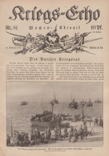 Kriegs-Echo: Wochen=Chronic, 25. Februar 1916, Nr 81.