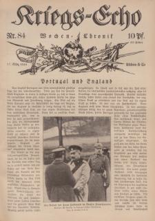 Kriegs-Echo: Wochen=Chronic, 17. März 1916, Nr 84.