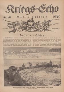 Kriegs-Echo: Wochen=Chronic, 31. März 1916, Nr 86.