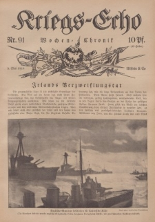 Kriegs-Echo: Wochen=Chronic, 5. Mai 1916, Nr 91.