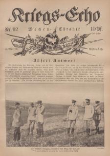 Kriegs-Echo: Wochen=Chronic, 12. Mai 1916, Nr 92.