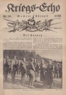 Kriegs-Echo: Wochen=Chronic, 26. Mai 1916, Nr 94.