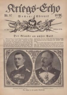 Kriegs-Echo: Wochen=Chronic, 16. Juni 1916, Nr 97.