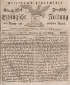 Elbingsche Zeitung, No. 65 Donnerstag, 13 August 1829