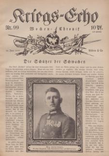 Kriegs-Echo: Wochen=Chronic, 30. Juni 1916, Nr 99.