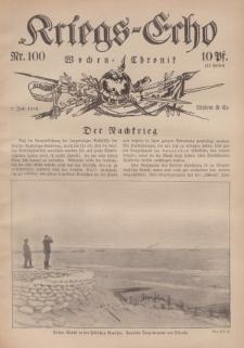 Kriegs-Echo: Wochen=Chronic, 7. Juli 1916, Nr 100.
