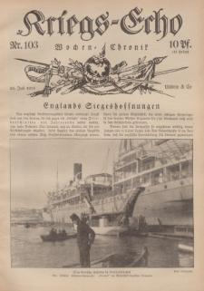 Kriegs-Echo: Wochen=Chronic, 28. Juli 1916, Nr 103.