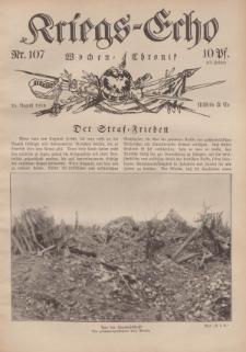 Kriegs-Echo: Wochen=Chronic, 25. August 1916, Nr 107.