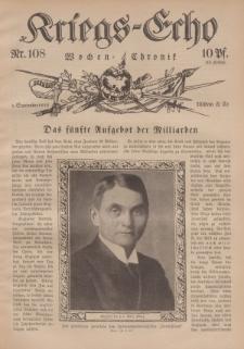 Kriegs-Echo: Wochen=Chronic, 1. September 1916, Nr 108.