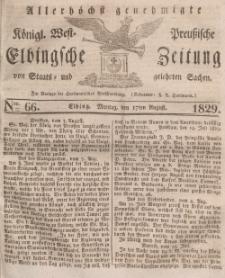 Elbingsche Zeitung, No. 66 Montag, 17 August 1829