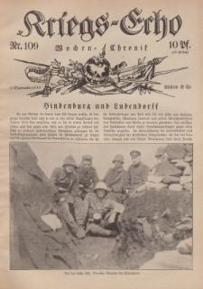 Kriegs-Echo: Wochen=Chronic, 8. September 1916, Nr 109.