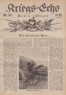 Kriegs-Echo: Wochen=Chronic, 15. September 1916, Nr 110.