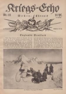 Kriegs-Echo: Wochen=Chronic, 22. September 1916, Nr 111.