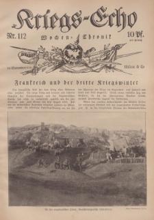 Kriegs-Echo: Wochen=Chronic, 29. September 1916, Nr 112.