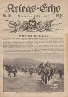 Kriegs-Echo: Wochen=Chronic, 6. Oktober 1916, Nr 113.
