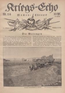 Kriegs-Echo: Wochen=Chronic, 13. Oktober 1916, Nr 114.