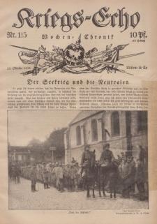 Kriegs-Echo: Wochen=Chronic, 20. Oktober 1916, Nr 115.