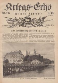 Kriegs-Echo: Wochen=Chronic, 27. Oktober 1916, Nr 116.
