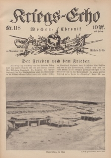Kriegs-Echo: Wochen=Chronic, 10. November 1916, Nr 118.