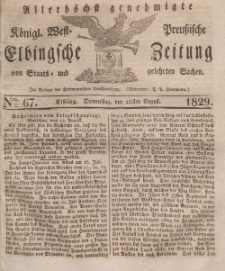 Elbingsche Zeitung, No. 67 Donnerstag, 20 August 1829