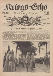 Kriegs-Echo: Wochen=Chronic, 17. November 1916, Nr 119.