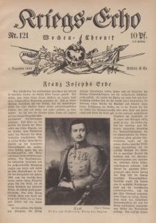 Kriegs-Echo: Wochen=Chronic, 1. Dezember 1916, Nr 121.