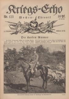 Kriegs-Echo: Wochen=Chronic, 15. Dezember 1916, Nr 123.