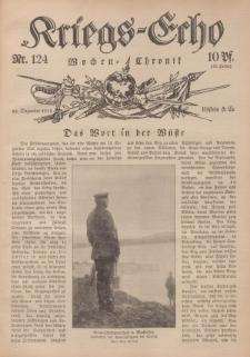 Kriegs-Echo: Wochen=Chronic, 22. Dezember 1916, Nr 124.