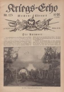 Kriegs-Echo: Wochen=Chronic, 29. Dezember 1916, Nr 125.