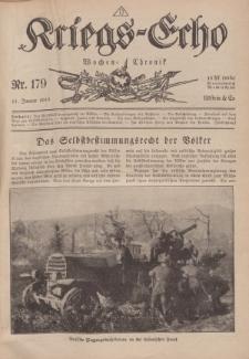 Kriegs-Echo: Wochen=Chronic, 11. Januar 1918, Nr 179.