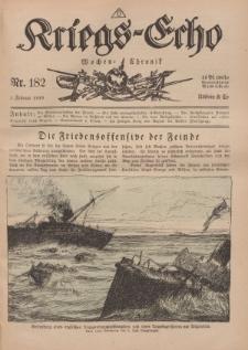 Kriegs-Echo: Wochen=Chronic, 1. Februar 1918, Nr 182.