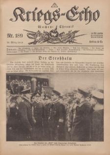 Kriegs-Echo: Wochen=Chronic, 22. März 1918, Nr 189.