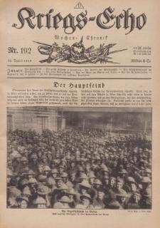 Kriegs-Echo: Wochen=Chronic, 12. April 1918, Nr 192.