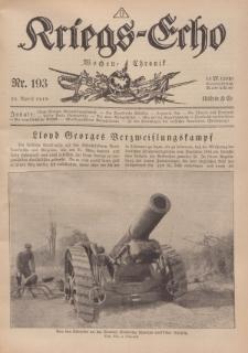 Kriegs-Echo: Wochen=Chronic, 19. April 1918, Nr 193.
