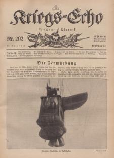 Kriegs-Echo: Wochen=Chronic, 21. Juni 1918, Nr 202.