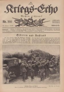 Kriegs-Echo: Wochen=Chronic, 28. Juni 1918, Nr 203.