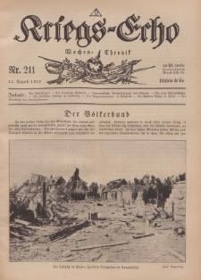 Kriegs-Echo: Wochen=Chronic, 23. August 1918, Nr 211.