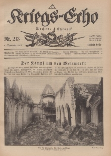 Kriegs-Echo: Wochen=Chronic, 6. September 1918, Nr 213.