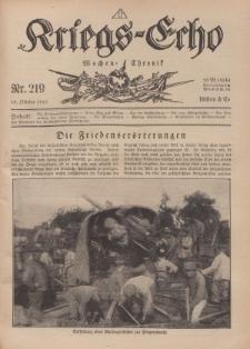 Kriegs-Echo: Wochen=Chronic, 18. Oktober 1918, Nr 219.