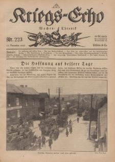 Kriegs-Echo: Wochen=Chronic, 15. November 1918, Nr 223.