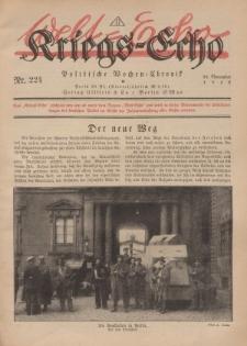 Kriegs-Echo: Wochen=Chronic, 22. November 1918, Nr 224.