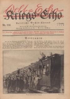 Kriegs-Echo: Wochen=Chronic, 6. Dezember 1918, Nr 226.