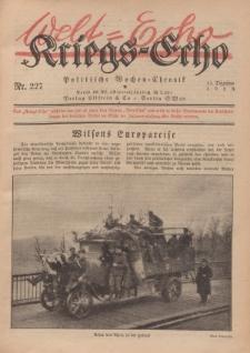 Kriegs-Echo: Wochen=Chronic, 13. Dezember 1918, Nr 227.